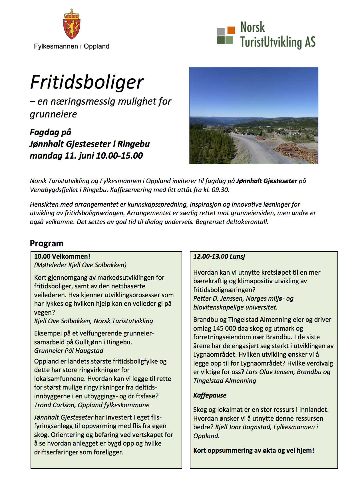 Program fagdag 11. juni 2018