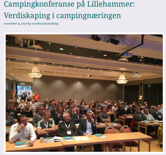 Bilde fra campingkonferansen 2017
