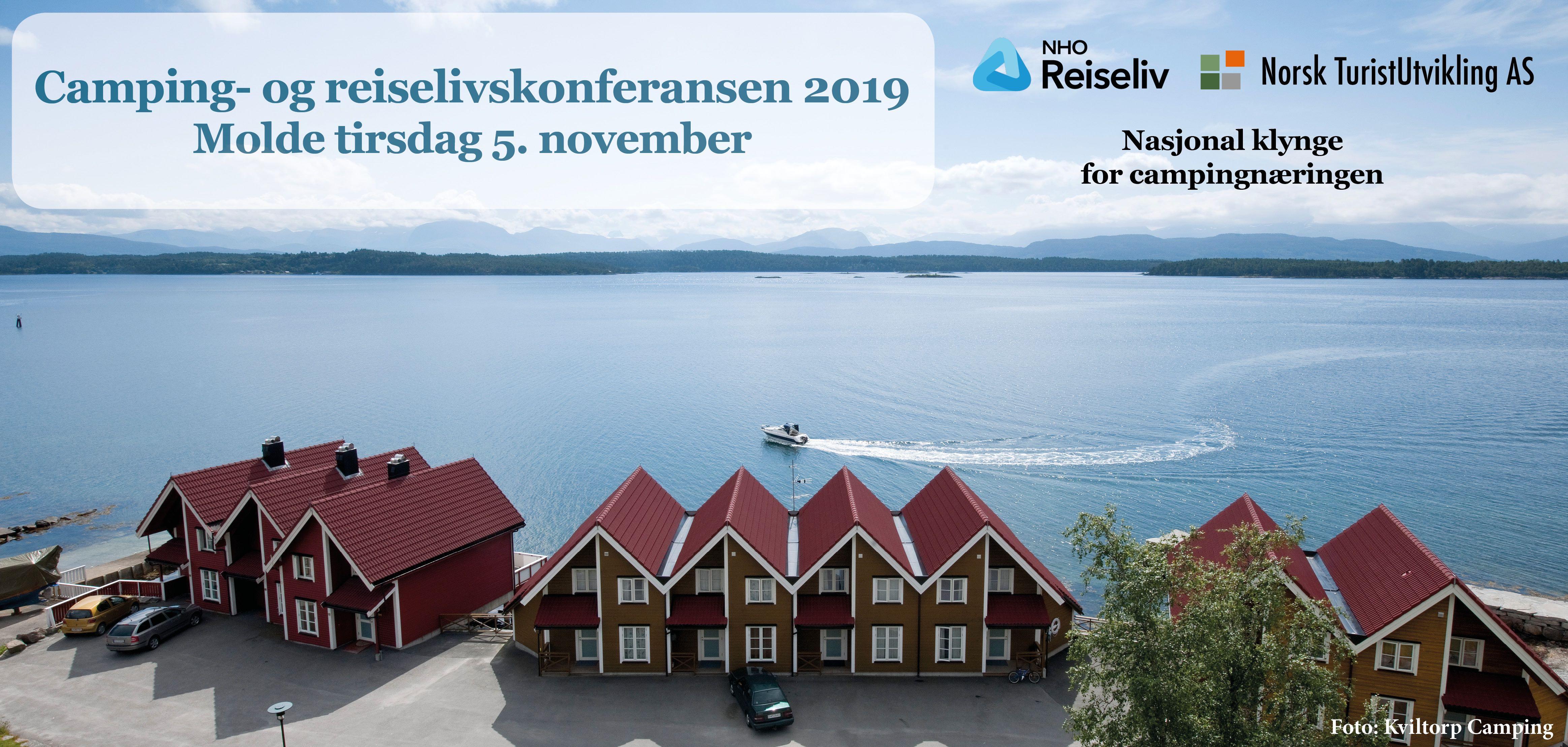 Banner camping- og reiselivskonferansen Molde 5-11-19